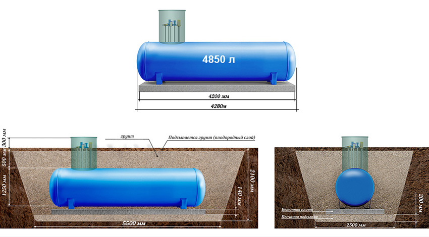 газгольдеры 4850 литров