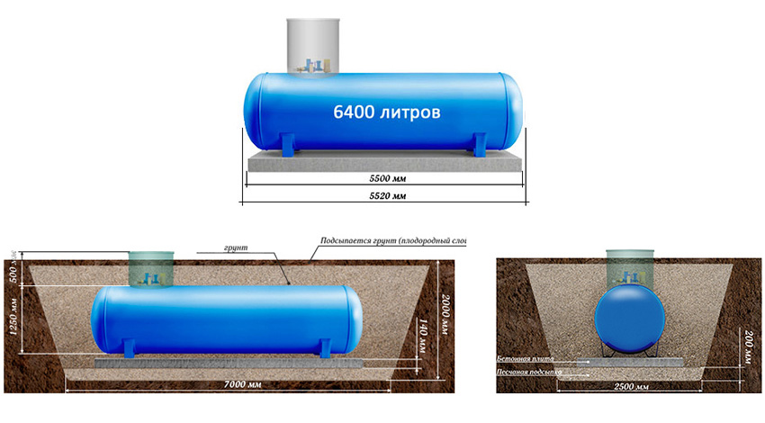 газгольдеры 6400 литров